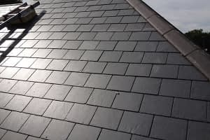 commercial steep slope slate roofing system