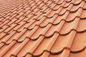 steep slope clay tile roof