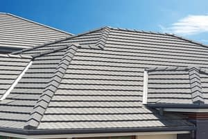 steep slope commercial concrete tile roof